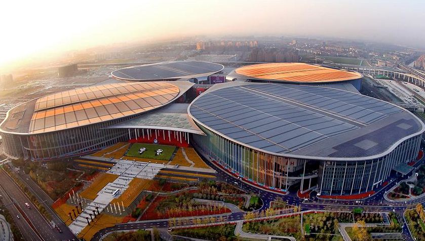 俯瞰上海国家会展中心