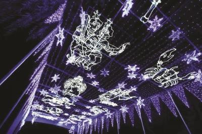 上海欢乐谷奇幻灯光节梦幻光影12月7日点亮夜空