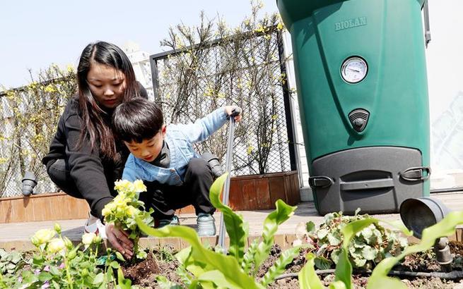 厨余垃圾变身肥料 屋顶农场种下绿色