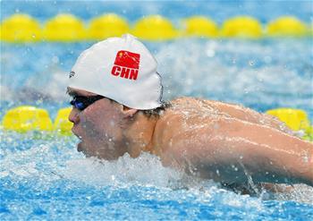 全国冠军赛:上海选手王舟获得男子200米蝶泳冠军