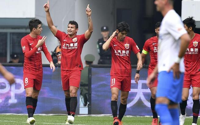 足球——中超:上海上港胜天津泰达