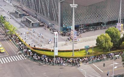 动漫游戏博览会周末迎大客流
