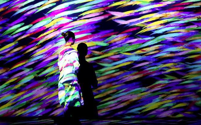 """上海:沉浸式艺术展体验""""海洋幻境"""""""