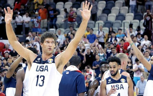 篮球世界杯小组赛:美国队胜日本队