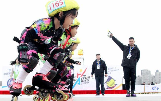 2019上海城市业余联赛轮滑项目总决赛鸣枪