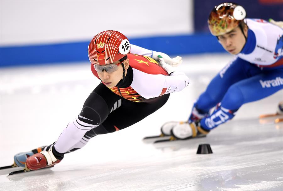 短道速滑世界杯上海站:韩天宇获男子1000米冠军