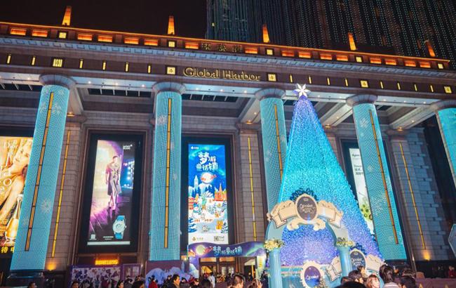 奇迹许愿圣诞树惊艳点亮 上海环球港开启奇幻童话之旅