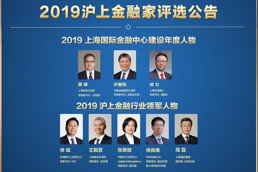 2019沪上金融家评选公告