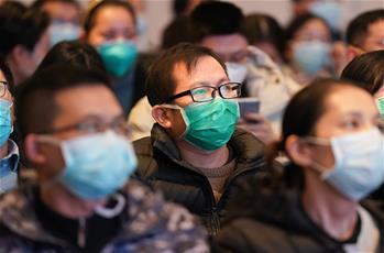 上海醫療隊抵達武漢后進行培訓
