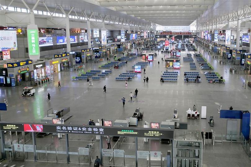 铁路上海站客流继续保持低位