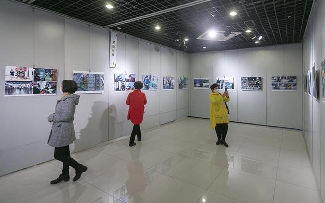 """上海闵行举行""""战疫""""主题摄影展"""