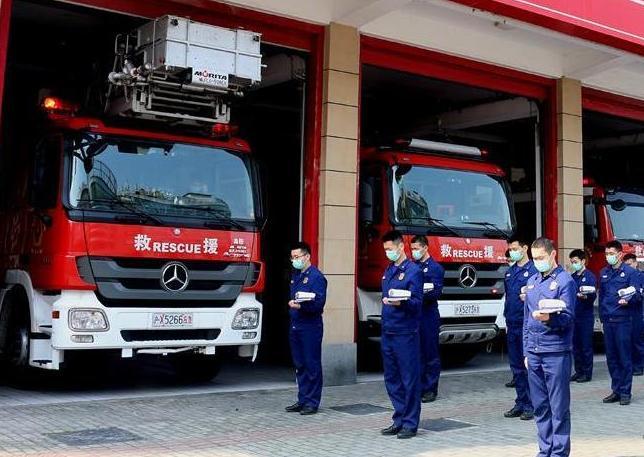 上海消防 哀悼同胞