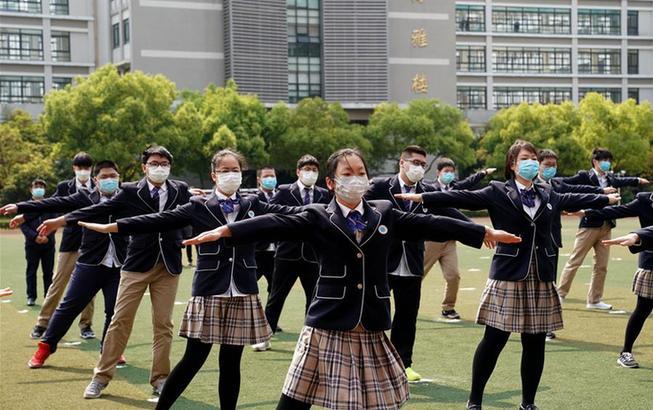 上海高三初三學生返校開學