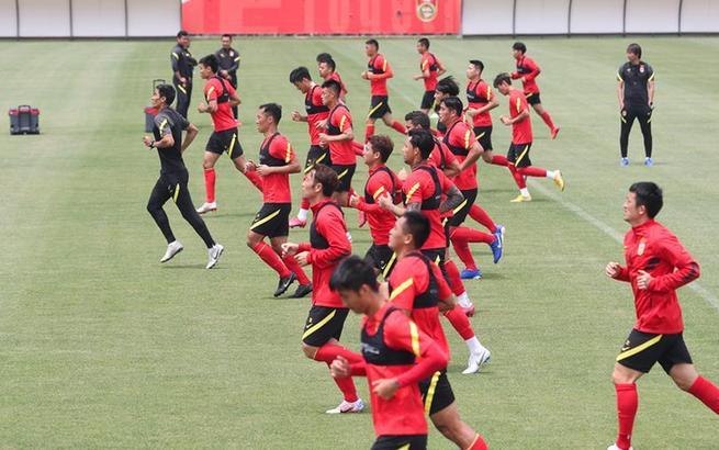 國足在上海訓練