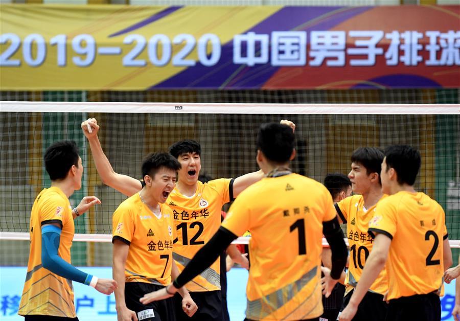 男排联赛:上海胜山东