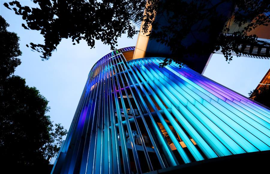 上海虹橋商務區夜色