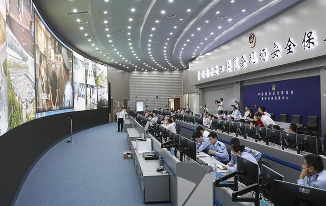 上海举行第三届进博会城市服务保障实景综合演练