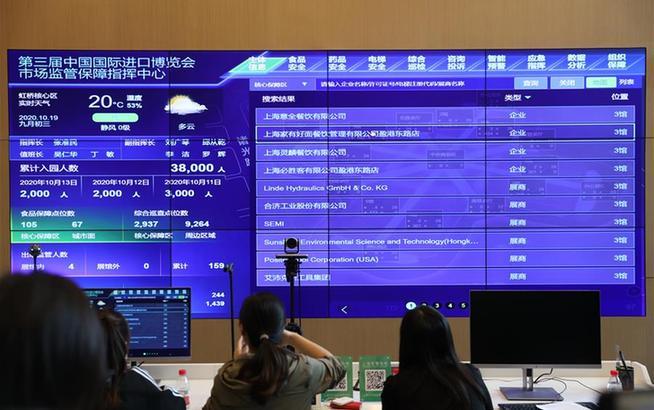 上海:打造智能监控平台 助力进博会市场监管服务保障