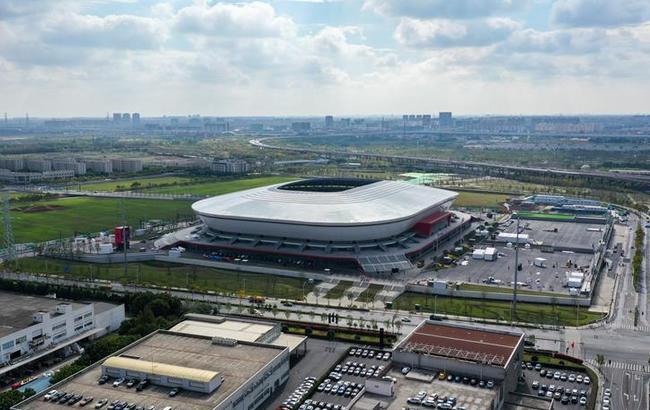 俯瞰上海浦东足球场