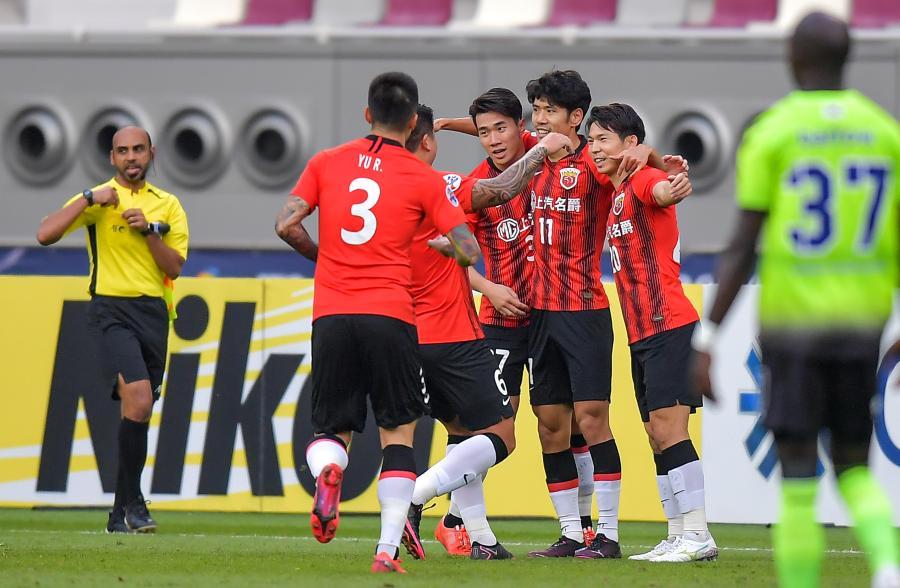 足球——亞冠:上海上港勝全北現代