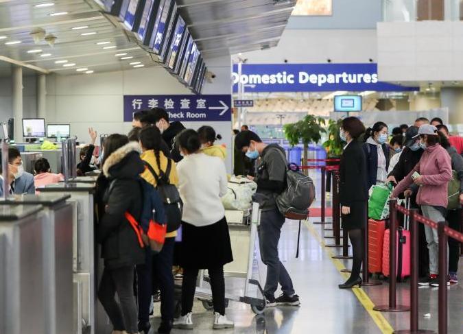 上海浦东机场航站楼运行正常