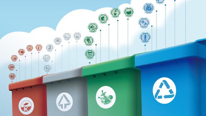 上海垃圾分类可回收物回收量2020年同比增长近六成