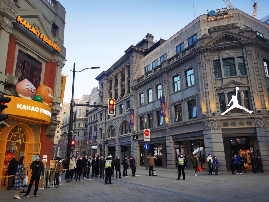 """老街新意:上海南京路步行街打造""""世界会客厅"""""""