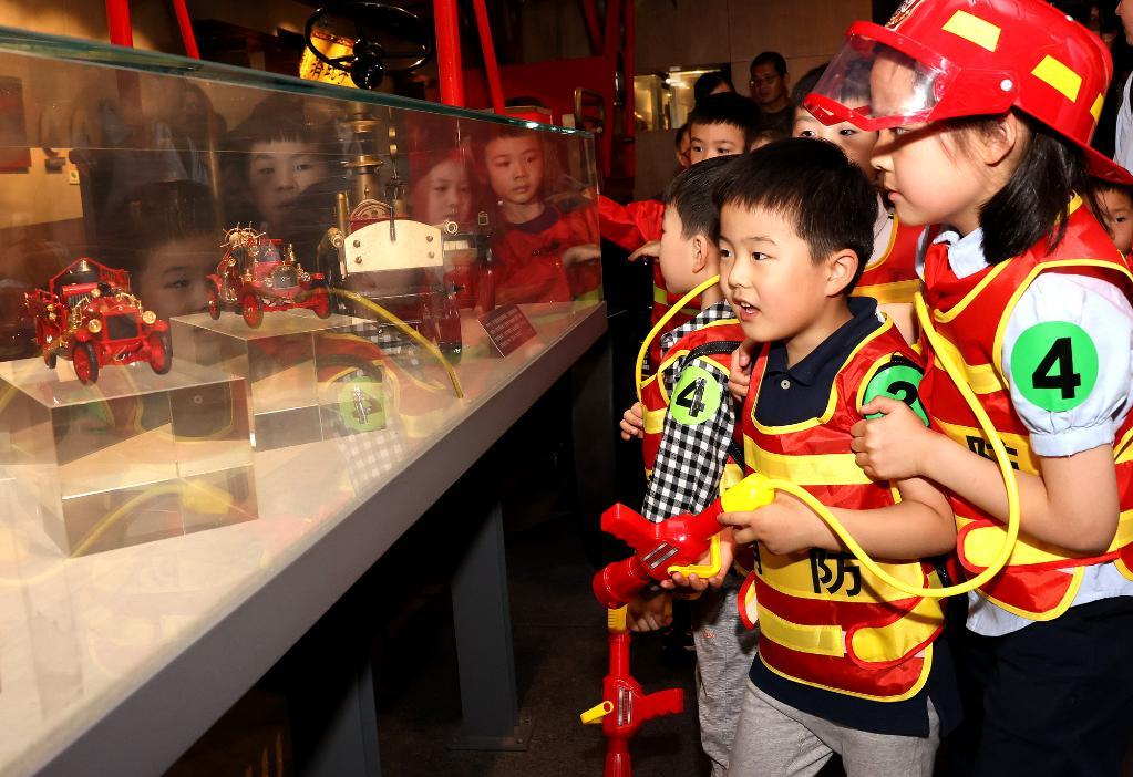 上海:萌娃學消防
